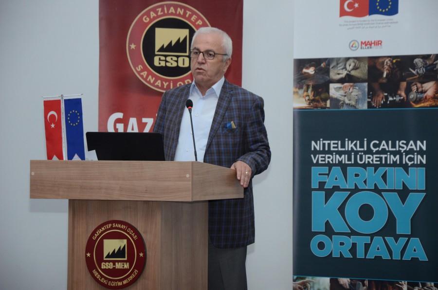 MAHİR ELLER GAZİANTEP'Lİ İŞVERENLERE MESLEKİ YETERLİLİĞİ ANLATTI