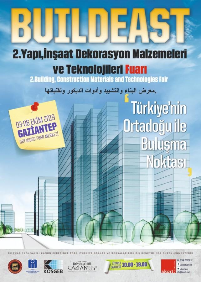 TÜRKİYE VE ORTADOĞU YAPI SEKTÖRÜ GAZİANTEP'TE BULUŞUYOR